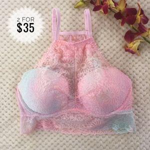 New! Pink Victoria's Secret bralette Push-bra M